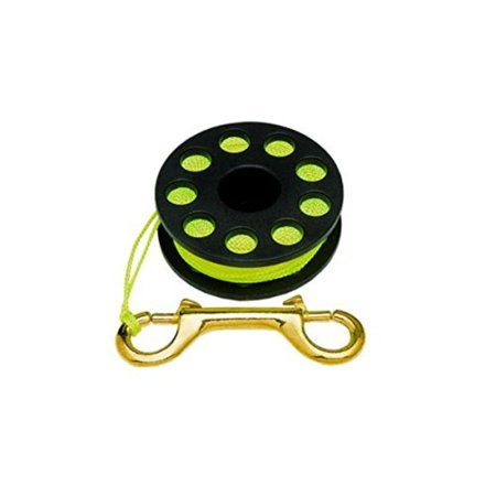Finger Spool 65 Scuba Diving Reels, Includes brass clip. By (Innovative Scuba Aluminum Reel)