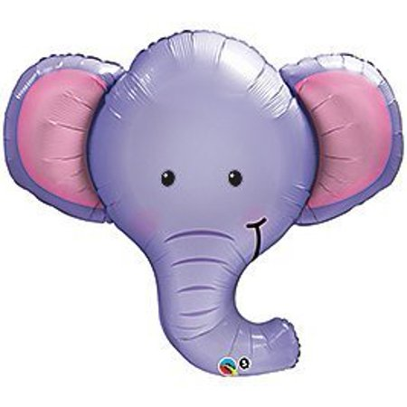 One XL BABY BOY PURPLE ELEPHANT BABY SHOWER Balloons Decorations Supplies by - Elephant Decorations Baby Shower
