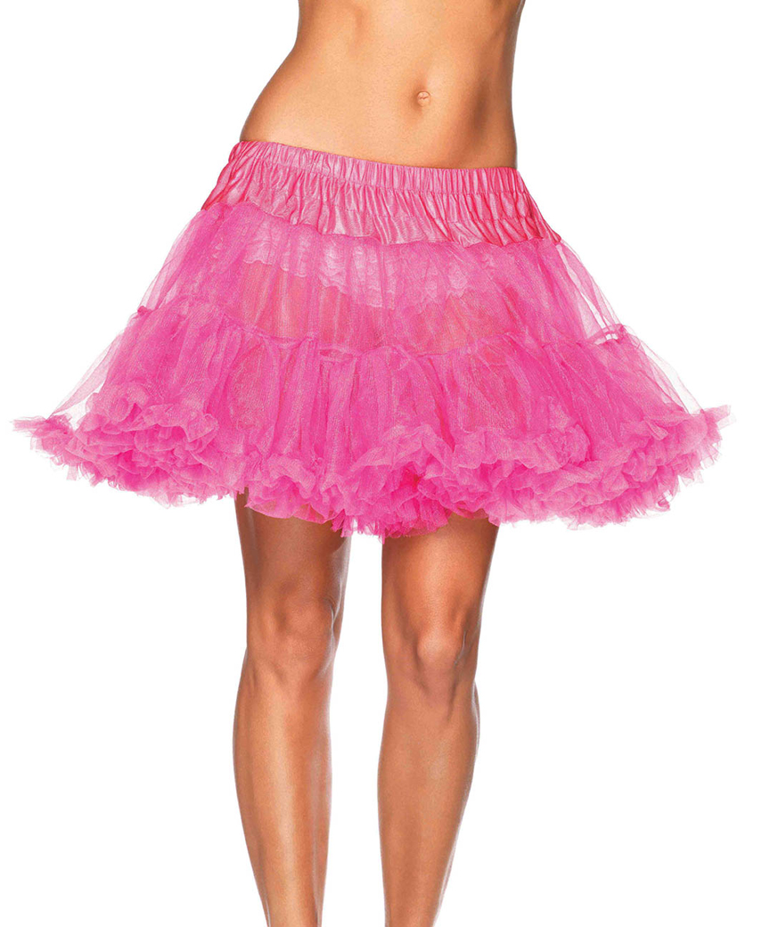 Light up Petticoat White  Knee Length Women/'s Fancy Dress Costume Accessory