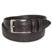 Men's Big & Tall Basketweave Jean Belt with Gunmetal Buckle