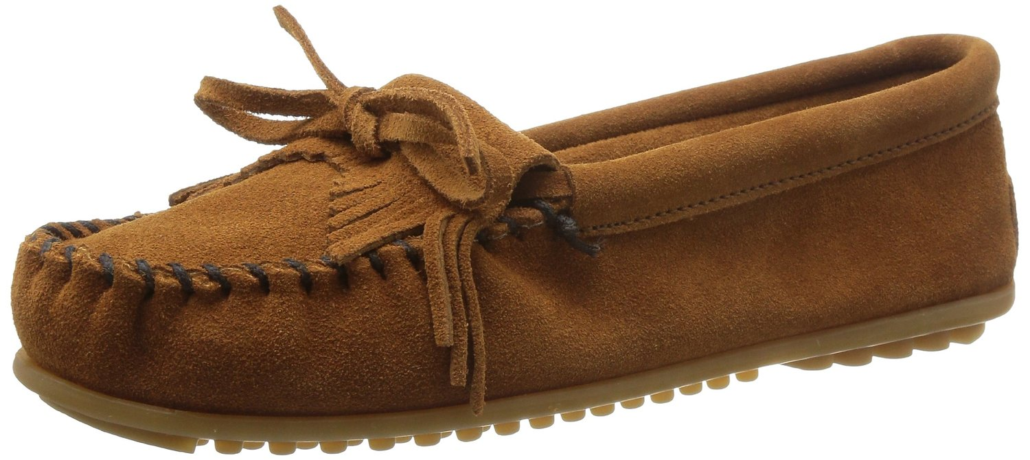 Minnetonka Women's Kilty Suede Moccasin by Minnetonka Moccasin Company, Inc.