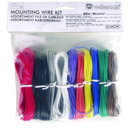 K/MOW 10 Color Stranded Mounting Wire Set By Velleman