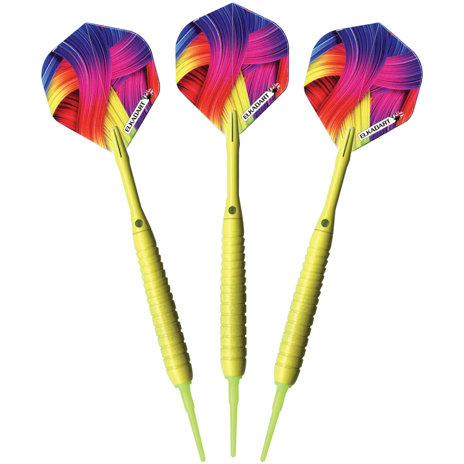 Elkadart Neon Yellow Soft Tip Darts, 18g