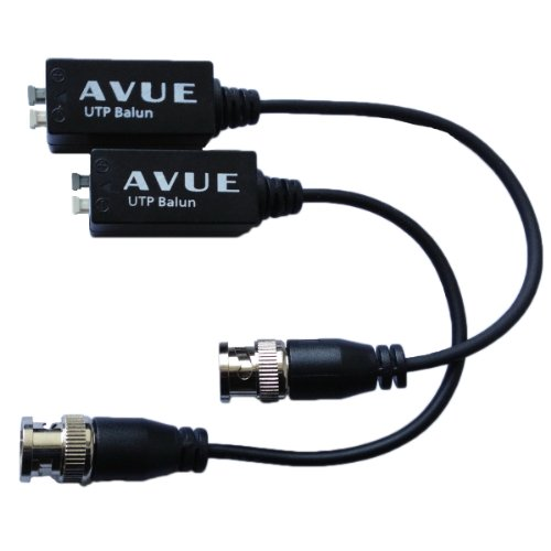 Avue AVB201P Video Balun With 8in Pigtail Cabl Bnc 2pcs Pk Push Pin Terminal Type