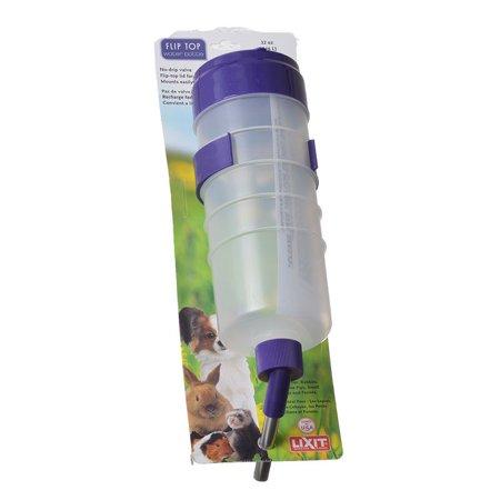 Ammo Lock Bottle (Lixit Quick Lock Flip Top Water Bottle with Valve 32 oz - Pack of 2 )