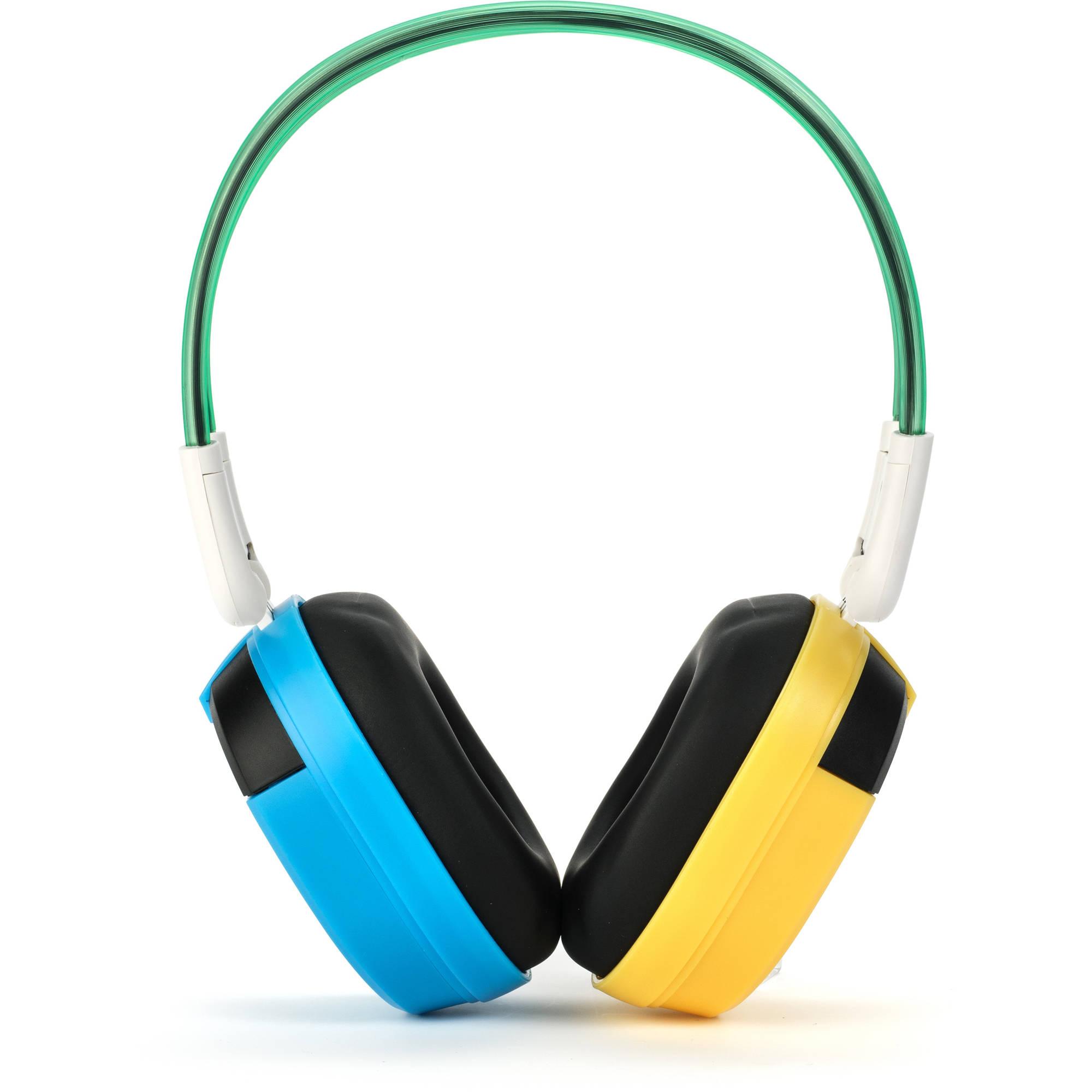 Bravo View IH-03A - KID FRIENDLY Automotive IR Wireless Headphones (Blue/Yellow)