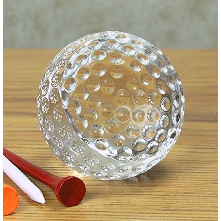 Glass Golf Ball Paperweight - Can Be Engraved (Engraving Not Provided By Seller)