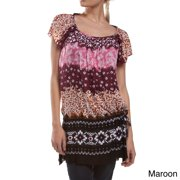 Summer Fling Floral Top Dress (Indonesia) S/M-Maroon