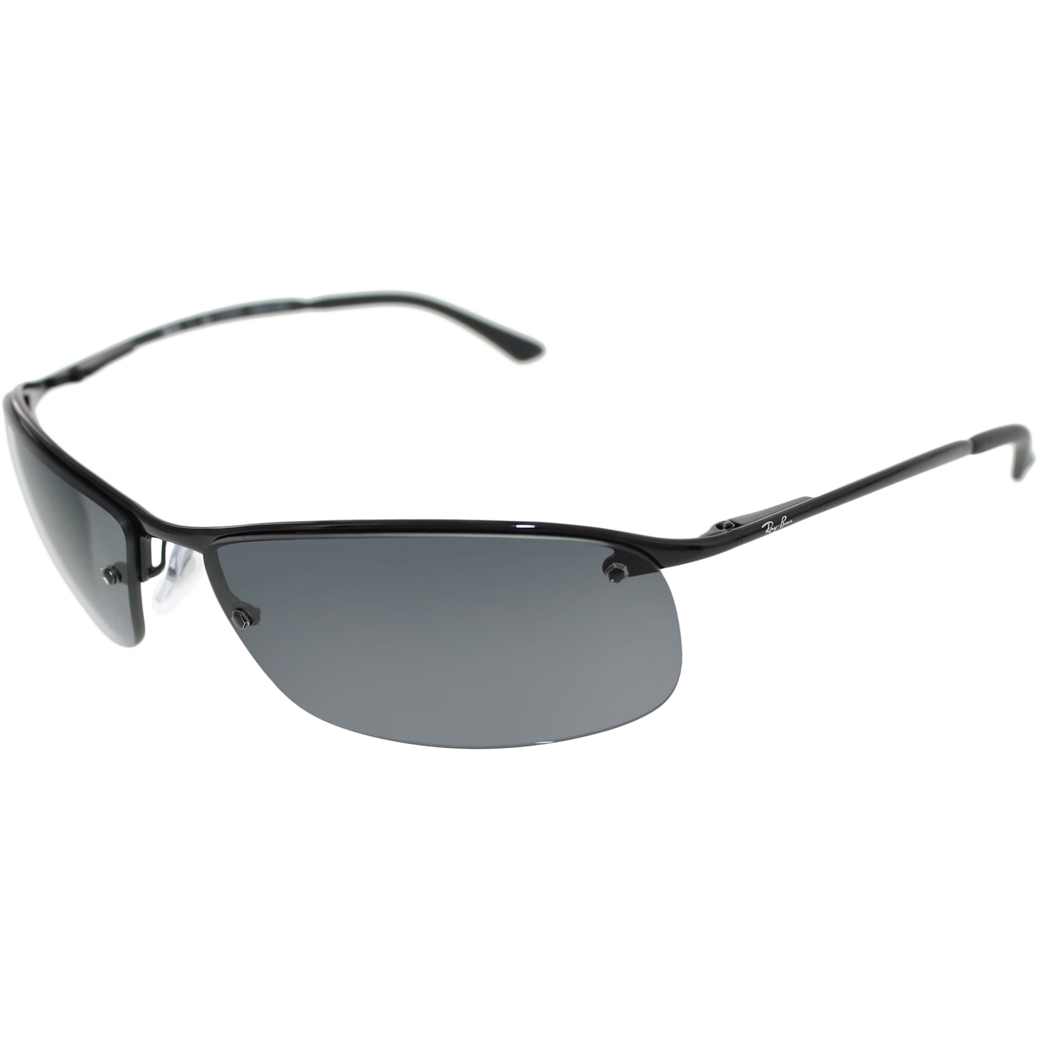 ray ban polarized sunglasses walmart  ray ban men's polarized rb3183 002/81 63 black semi rimless