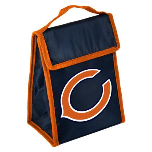 Chicago Bears Official NFL 9 inch x 7 inch x 5 inch  Insulated  Velcro Lunch Box Lunchbox Bag by Forever Collectibles