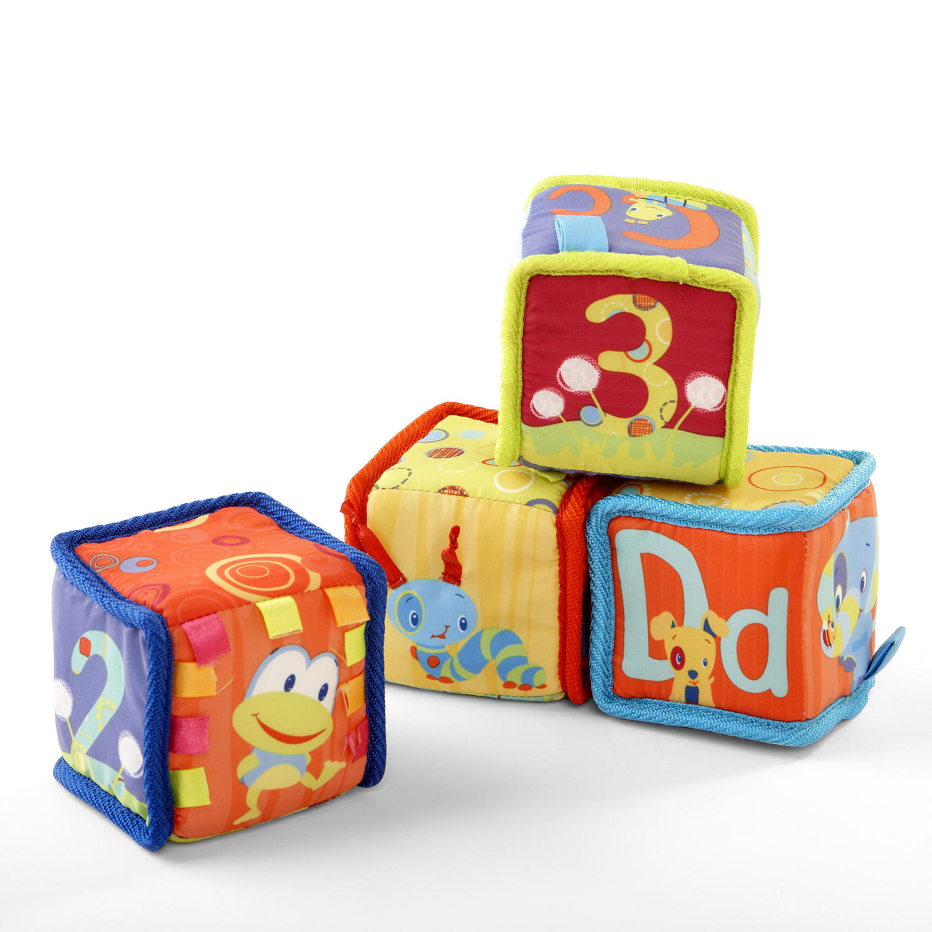 Bright Starts Grab & Stack Blocks Toy by Bright Starts