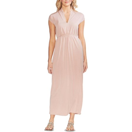 Vince Camuto Womens Pullover V-Neck Maxi Dress