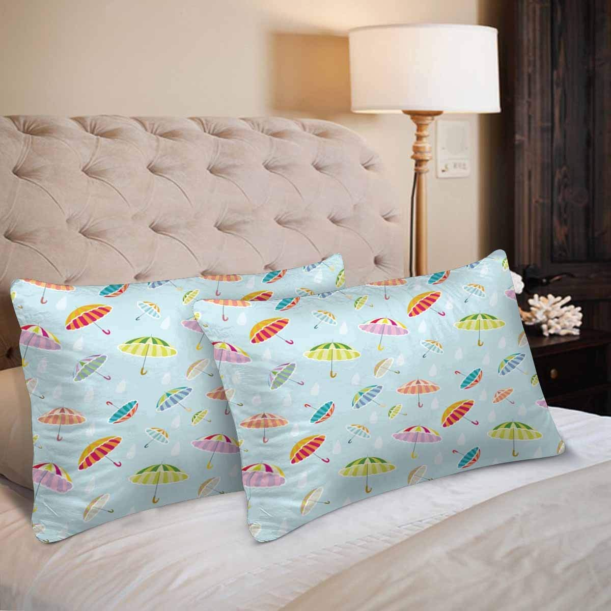 GCKG Beautiful Colorful Umbrella Pillow Cases Pillowcase 20x30 inches Set of 2 - image 1 of 4