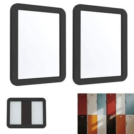 """2 Pack Magnetic Glass Mirror Locker Vanity Bathroom School Travel 5 1/4""""x6 7/8"""""""