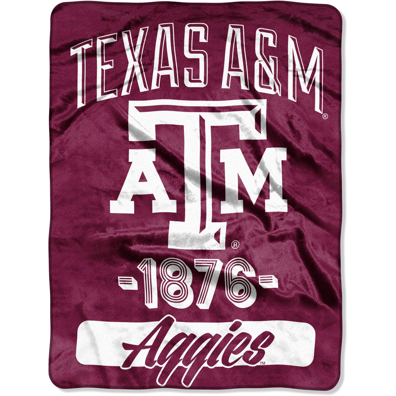 "NCAA Texas A&M Aggies ""Varsity"" 46"" x 60"" Micro Raschel Throw"