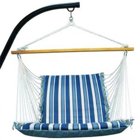 Soft Comfort Patio Hanging Chair - Blue Stripe