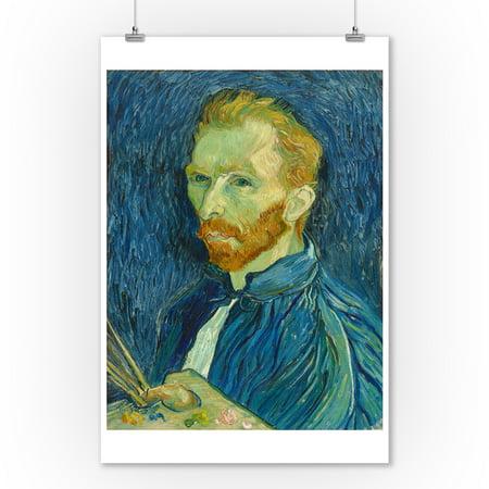 Self-Portrait - Masterpiece Classic - Artist: Vincent van Gogh c. 1889 (9x12 Art Print, Wall Decor Travel