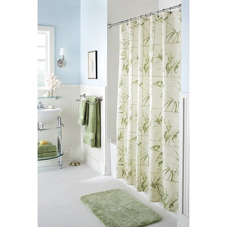 Better homes gardens bhg palm leaf shower curtain Better homes and gardens shower curtains