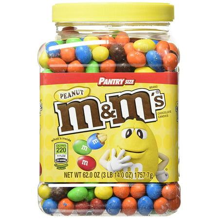 M&M'S Candies, Peanut Chocolate, 62 Ounce Jar, Pack of 1 - Original Version - Mmk Halloween 2017