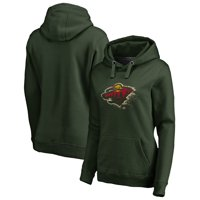 Minnesota Wild Fanatics Branded Women's Splatter Logo Pullover Hoodie - Green