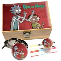 Rick & Morty Herb Grinder Stash Box Set Combo 6x4 in. Box  Red