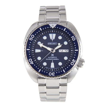 SRP773J1 Men's Prospex Turtle Automatic Blue Dial Stainless Steel Dive (Automatic See Thru Steel Watch)