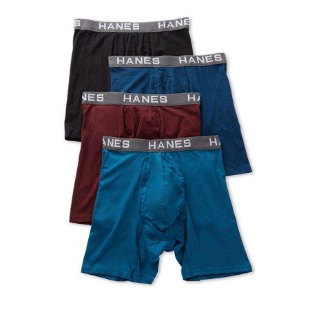 26d984b7a1de Hanes - Men's Hanes UFBBA4 Ultimate ComfortFlex Fit Boxer Briefs - 4 Pack  (Assorted M) - Walmart.com