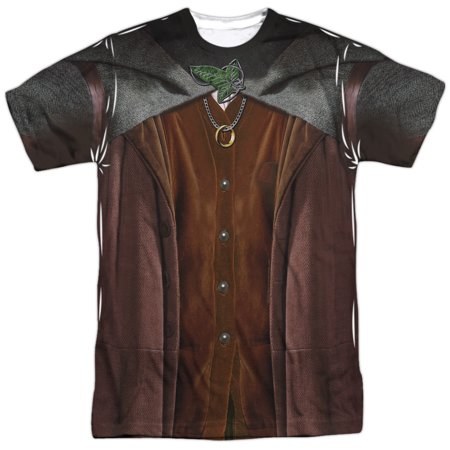 Lord Of The Rings Frodo Costume Mens Sublimation Polyester - Frodo Lord Of The Rings Costume