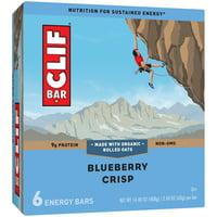 CLIF BAR - Energy Bars - Blueberry Crisp - 2.4 Ounce Protein Bars - 6 Count