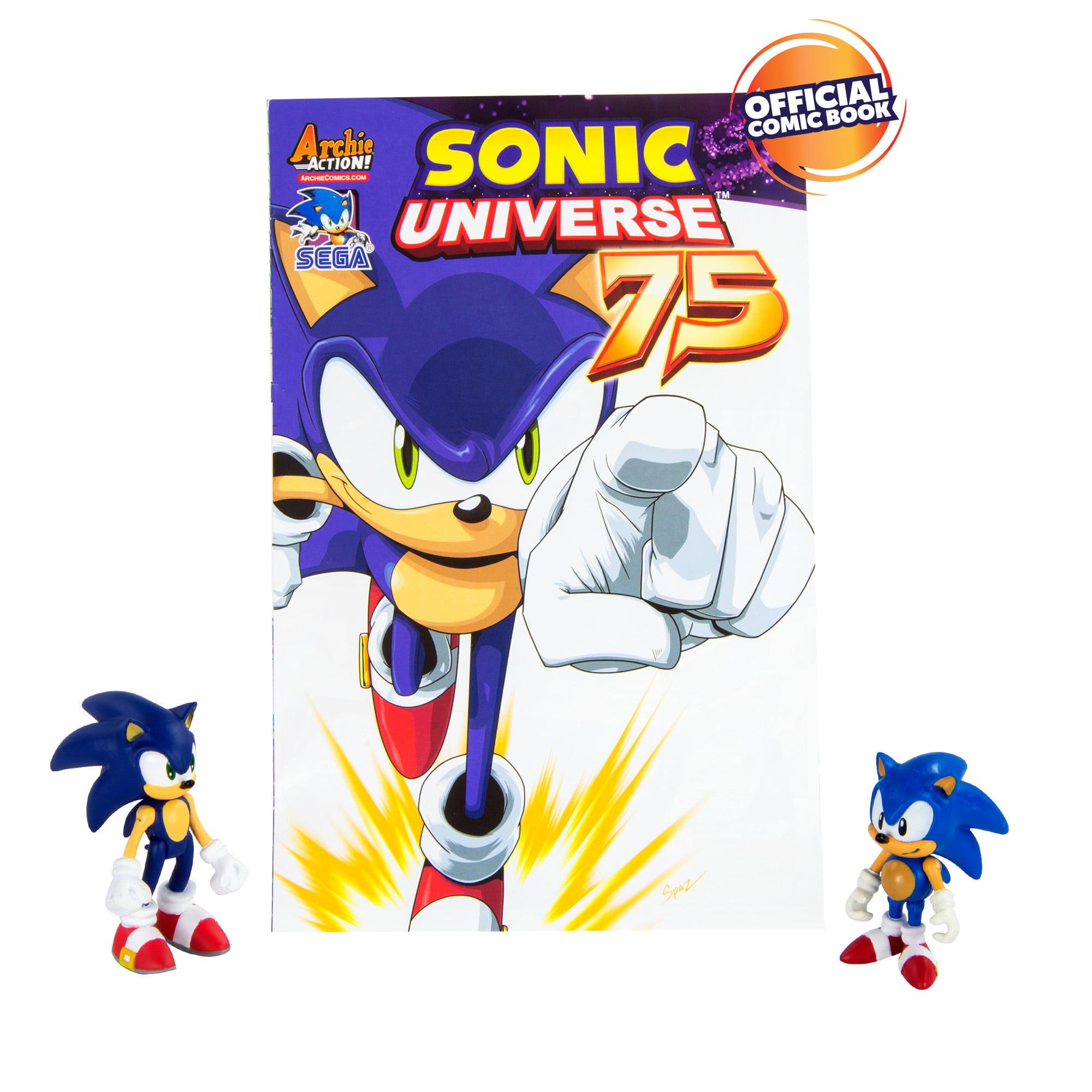 Sonic The Hedgehog Collector Series 2 Figure Pack With Comic Classic Modern Sonic Walmart Com Walmart Com