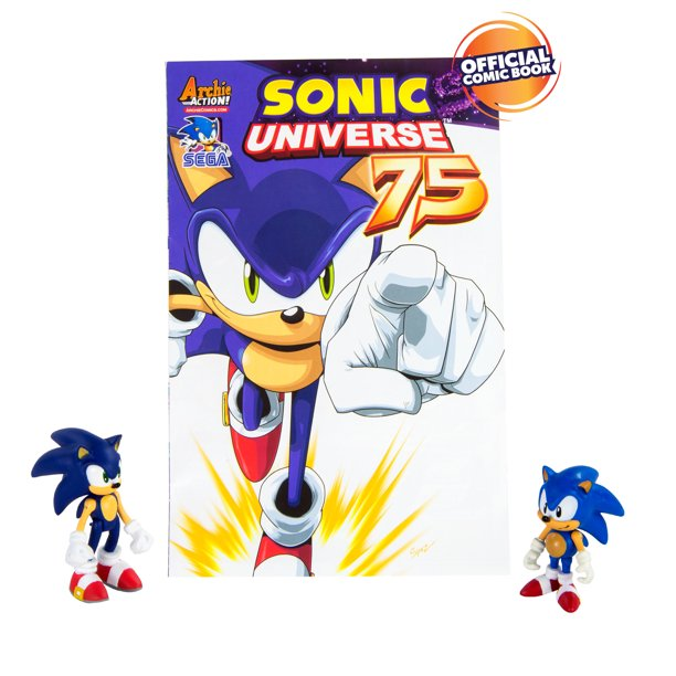 Sonic The Hedgehog Collector Series 2 Figure Pack With Comic Classic Modern Sonic Walmart Com Walmart Com