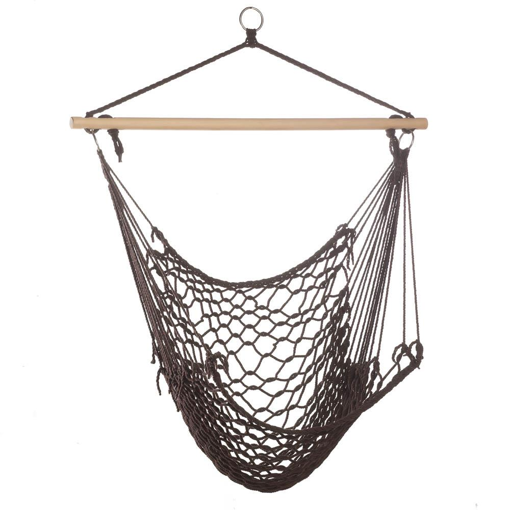 Hanging Hammock Chair, Portable Lightweight For Backyard, Recycled Cotton