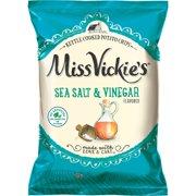 Miss Vickie's Sea Salt & Vinegar Flavored Kettle Cooked Potato Chips, 8 oz Bag