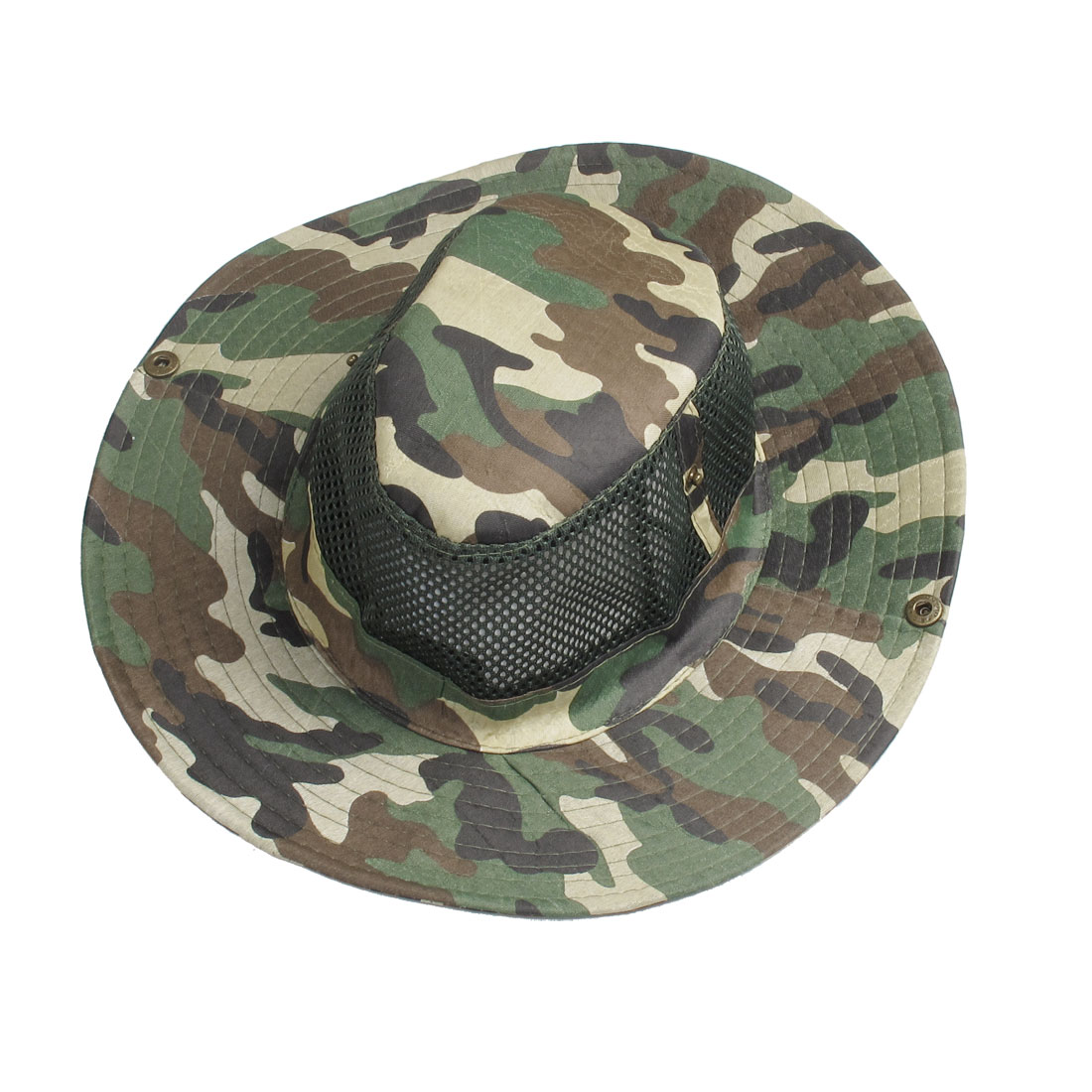 Army Green Stitching Hem Adjustable String Hat Cap for Man