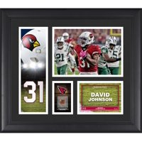 "David Johnson Arizona Cardinals Framed 15"" x 17"" Player Collage with a Piece of Game-Used Football"