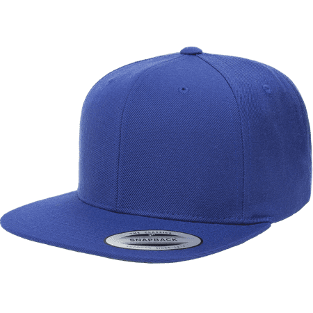 3306502b1a060 The Hat Pros Snapbacks Flexfit Pro-Style Snapback Hats w  Green Underbill  6089M (Royal) - Walmart.com