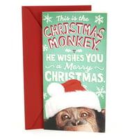 Hallmark Pop Up Funny Christmas Money or Gift Card Holder (Monkey)