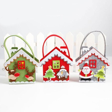 Obstce Cute Elk Snowman Santa Claus Non-Woven Fabric Candy Bag Christmas Party Gift (Party City In Elk Grove)