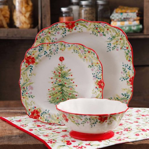 The Pioneer Woman Holiday Cheer 12-Piece Dinnerware Set