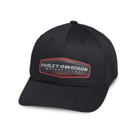 Harley-Davidson Mens High Density Print Black Cotton Baseball Cap - 97775-19VM High Cap Print