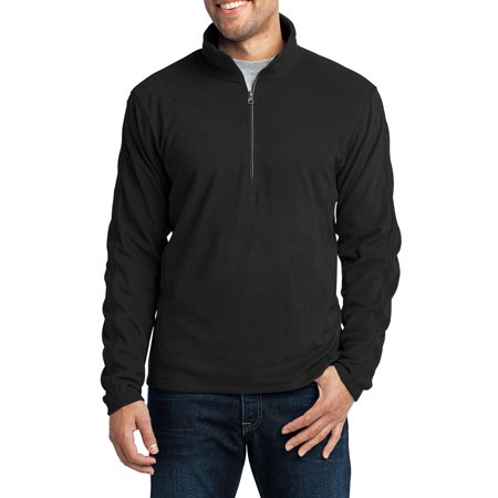 Mafoose Men's Long Sleeve Microfleece 1/2-Zip Pullover Black X-Small (Microfleece Pullover)