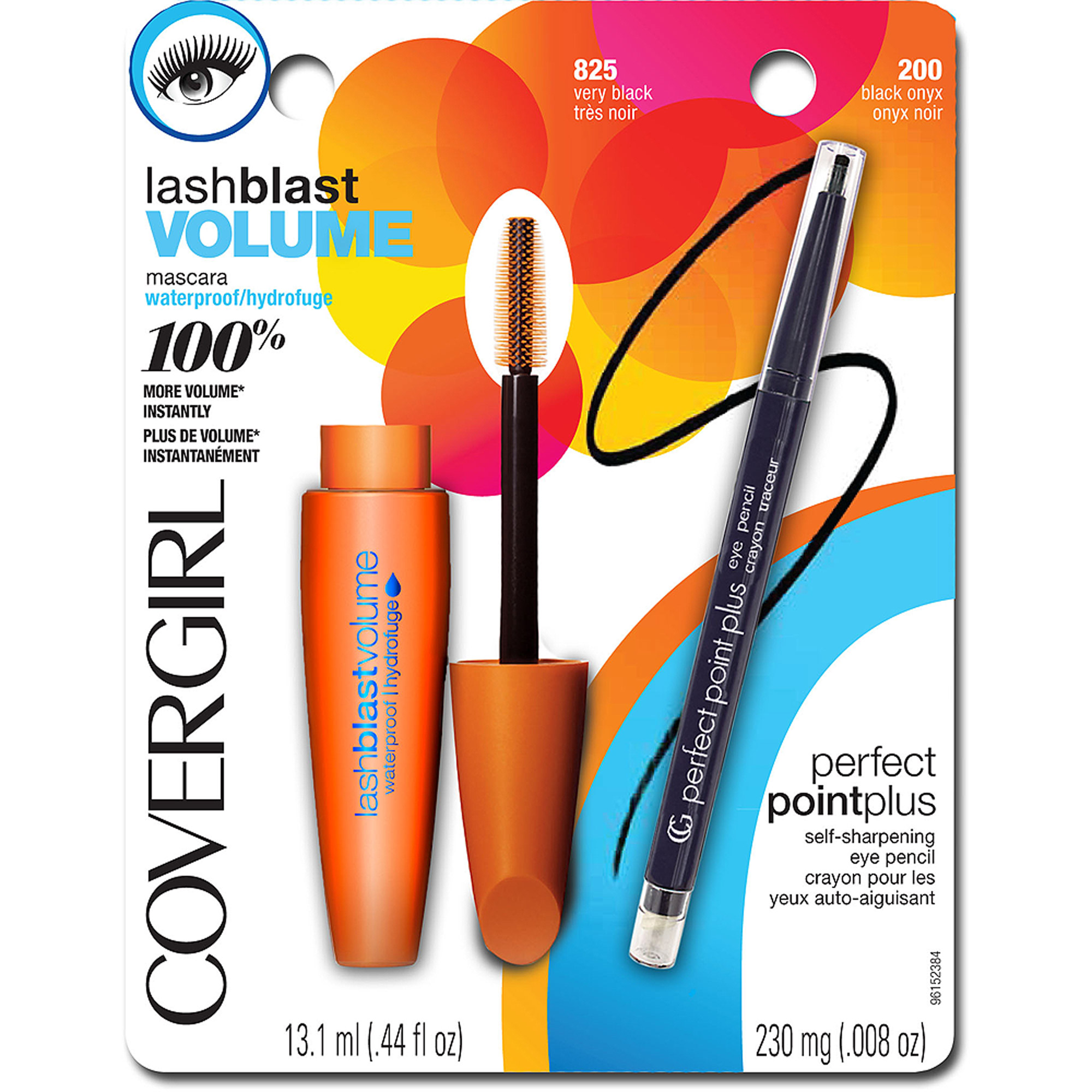 COVERGIRL LashBlast Volume Water Resistant Mascara and Perfect Point Plus Pencil Value Pack