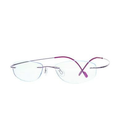EBE Women Titanium Rimless Shield Purple Frames Eyeglasses t1003 t1003