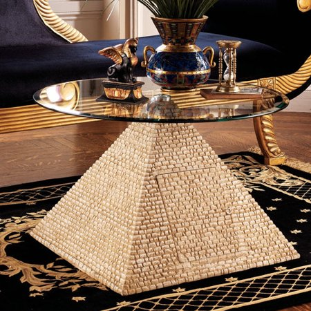 design toscano great egyptian pyramid coffee table. Black Bedroom Furniture Sets. Home Design Ideas