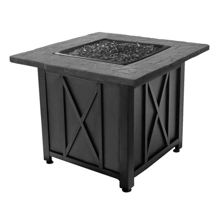 - Blue Rhino Endless Summer Outdoor Propane Gas Black Lava Rock Patio Fire Pit