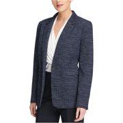 Dkny Womens Knit One Button Blazer Jacket