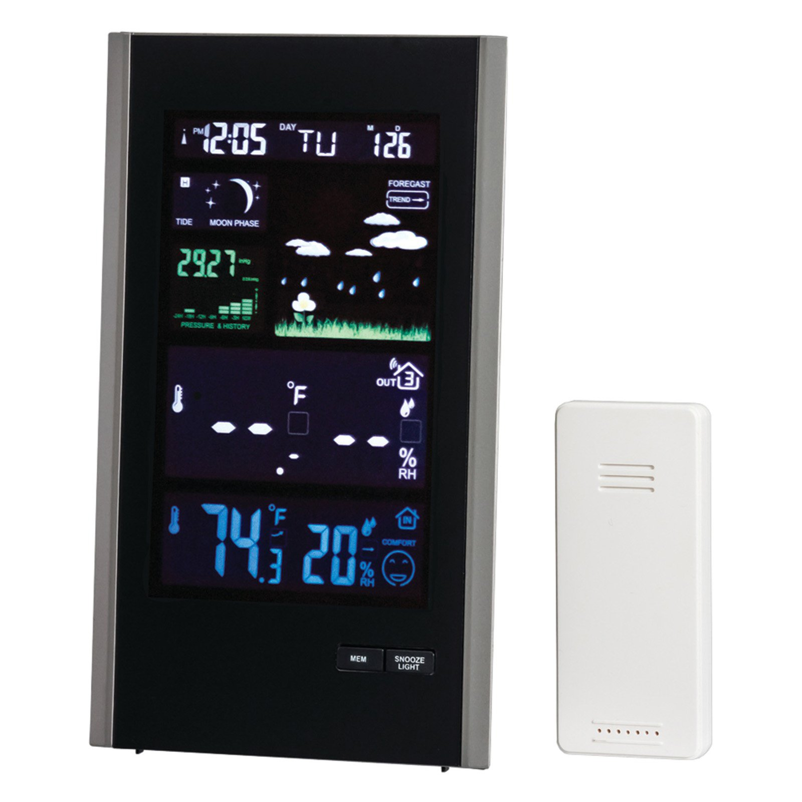 Taylor 1740 Digital Color Weather Station With Usb Charger
