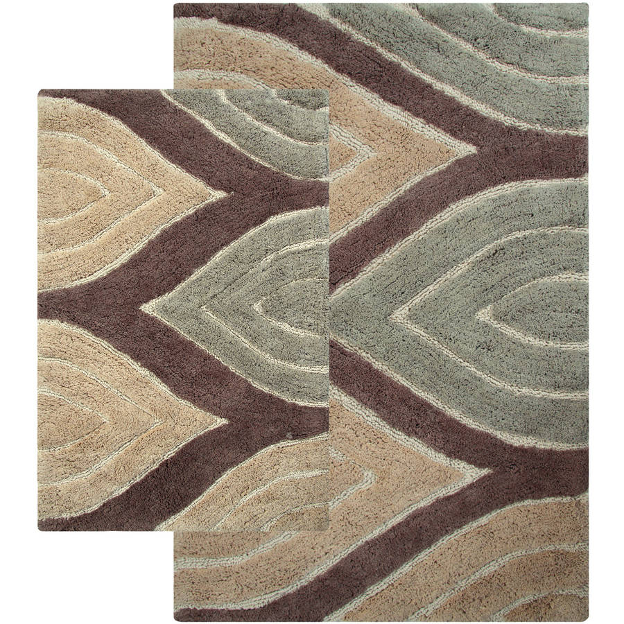 Tan Bathroom Rugs Davenport 2 Piece Bath Rug Set Walmartcom