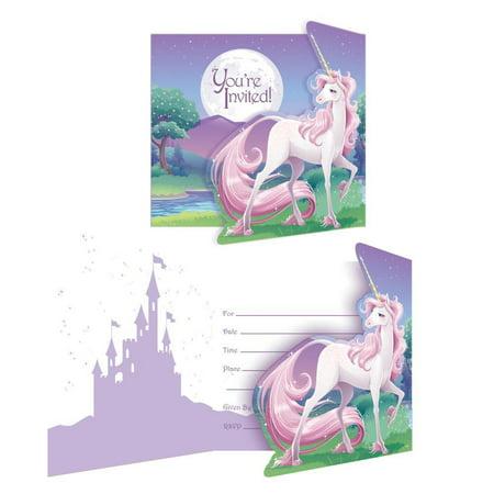 Creative Converting Unicorn Fantasy Invitation, Gatefold, 8 ct](Creative Halloween Invitations)