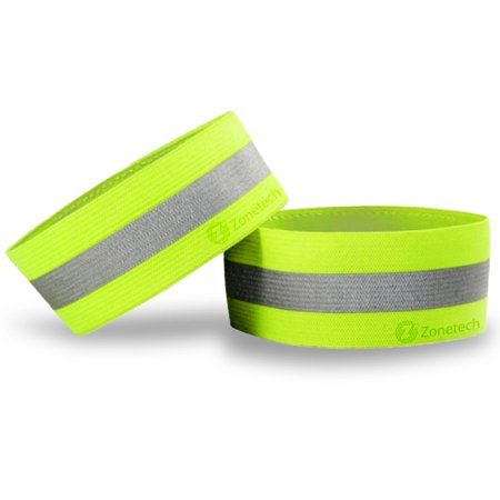 Zone Tech Highly Reflective Sports Bands -  High Visibility Reflective Safety Arm, Ankle, Wrist Band for Runners, Walkers and Cyclists